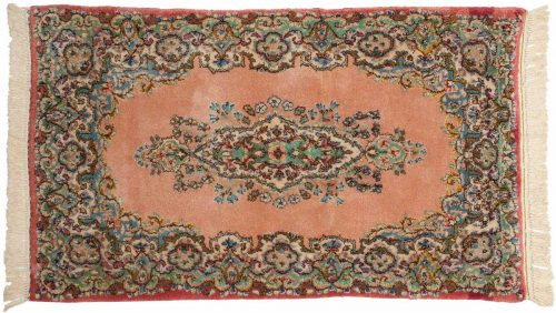 2×4 Persian Kerman Rose Oriental Rug 026474