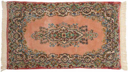 2×4 Persian Kerman Rose Oriental Rug 026474