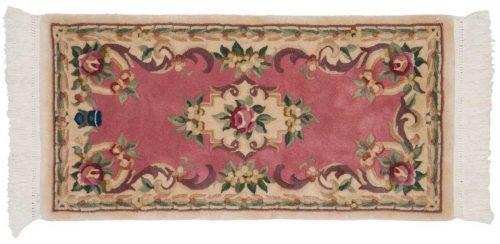 2×4 Savonnerie Rose Oriental Rug 029747