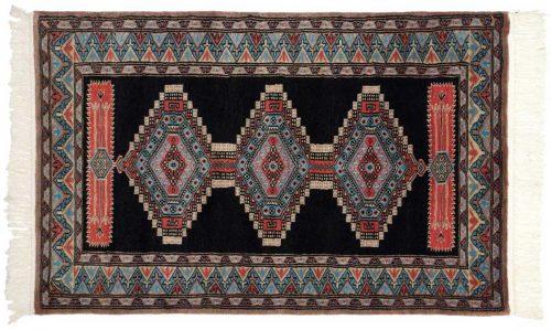 2×4 Turkmen Blue Oriental Rug 021681