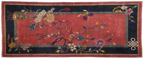 2×5 Nichols Rose Oriental Rug 014039