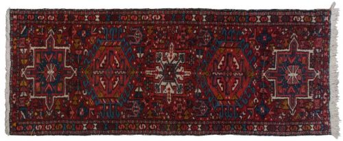 2×5 Persian Karaja Red Oriental Rug Runner 034842