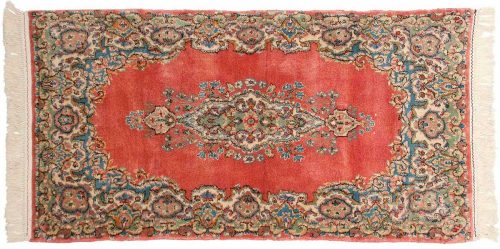2×5 Persian Kerman Rose Oriental Rug 017328