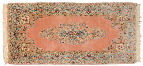 2×5 Persian Kerman Rose Oriental Rug 017411