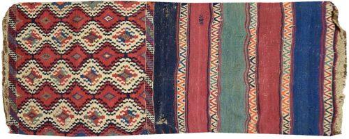 2×5 Persian Kilim Bag Multi Color Oriental Rug 011218