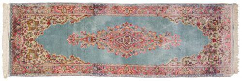 2×6 Persian Kerman Blue Oriental Rug Runner 017509