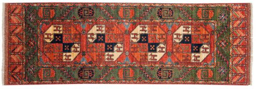 2×7 Ersari Rust Oriental Rug Runner 048857
