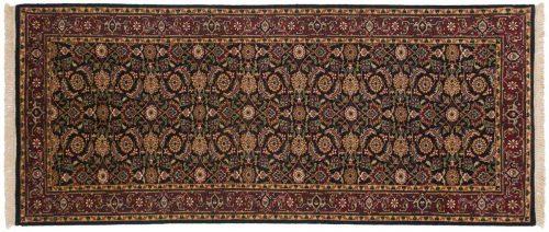 2×7 Herati Black Oriental Rug Runner 030222