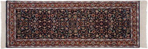2×7 Kashan Blue Oriental Rug Runner 034214