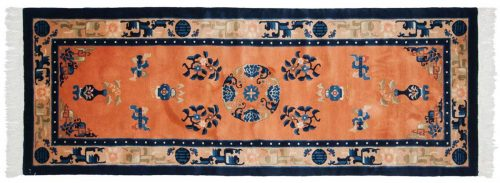 2×7 Peking Rust Oriental Rug Runner 018369