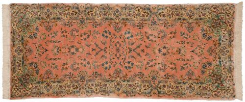 2×7 Persian Kerman Rose Oriental Rug Runner 026496