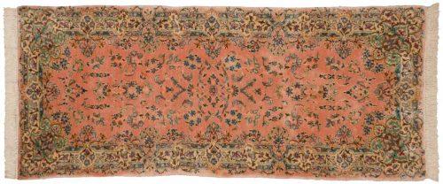 2×7 Persian Kerman Rose Oriental Rug Runner 026496