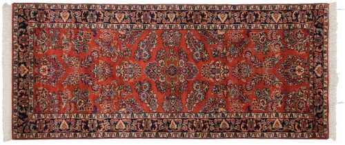 2×7 Sarouk Red Oriental Rug Runner 023469