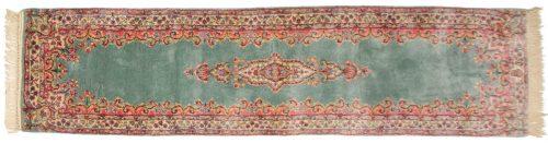 2×8 Persian Kerman Green Oriental Rug Runner 017536