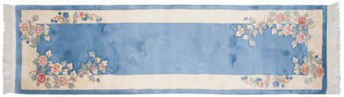 2×9 Floral Blue Oriental Rug Runner 018773