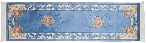 2×9 Aubusson Blue Oriental Rug Runner 018515