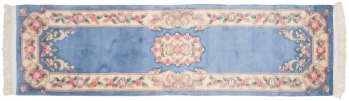2×9 Aubusson Blue Oriental Rug Runner 018929