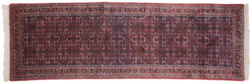 2×9 Bijar Red Oriental Rug Runner 035942