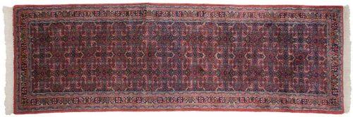 2×9 Bijar Red Oriental Rug Runner 035942