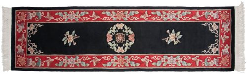 2×9 Peking Black Oriental Rug Runner 018053