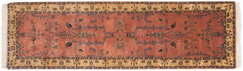 2×9 Sarouk Rose Oriental Rug Runner 030855