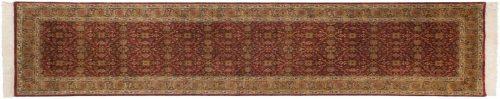 3×10 Agra Burgundy Oriental Rug Runner 039227