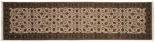 3×10 Kashan Ivory Oriental Rug Runner 042585