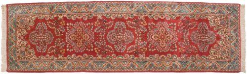 3×10 Persian Kerman Rose Oriental Rug Runner 017426