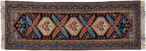 3×11 Persian Ardebil Blue Oriental Rug Runner 034970
