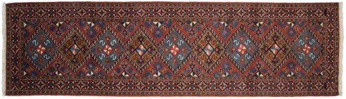 3×11 Persian Ardebil Rust Oriental Rug Runner 022872