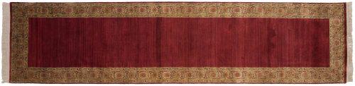 3×12 Agra Burgundy Oriental Rug Runner 038728