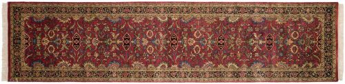 3×12 Agra Red Oriental Rug Runner 038902