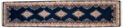 3×12 Kerman Blue Oriental Rug Runner 015432