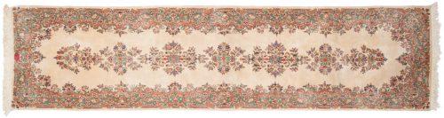 3×12 Persian Kerman Ivory Oriental Rug Runner 012154