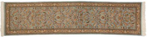 3×12 Persian Tabriz Blue Oriental Rug Runner 035143