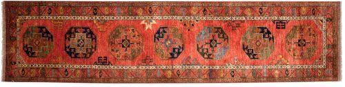 3×13 Ersari Rust Oriental Rug Runner 048866