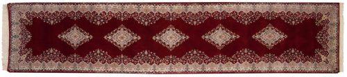 3×13 Kerman Red Oriental Rug Runner 016372