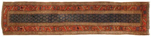 3×13 Persian Kurdistan Blue Oriental Rug Runner 028477