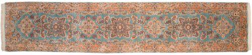 3×14 Persian Kerman Blue Oriental Rug Runner 017375