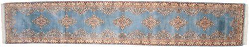 3×15 Kerman Blue Oriental Rug Runner 014876