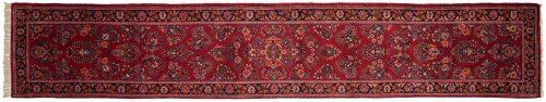 3×15 Persian Sarouk Rose Oriental Rug Runner 034680