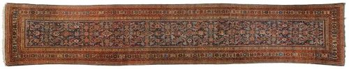 3×16 Persian Feraghan Blue Oriental Rug Runner 033028