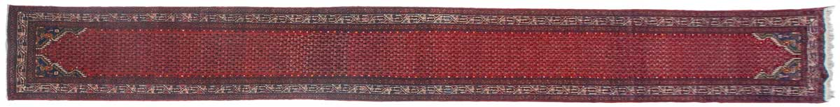 3x17 Persian Tajabad Red Oriental Rug Runner 025430