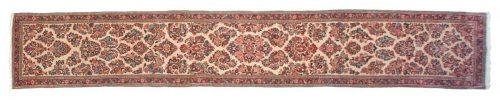3×18 Persian Sarouk Ivory Oriental Rug Runner 011286