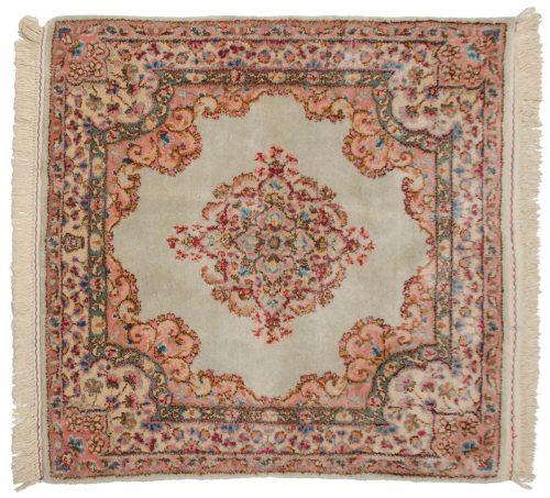 3×3 Persian Kerman Silver Oriental Square Rug 017385