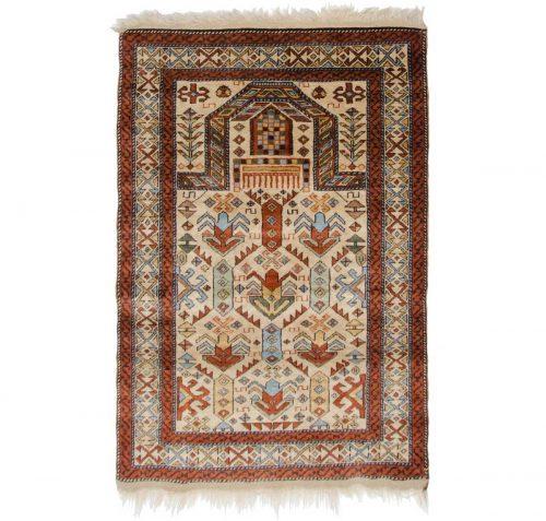 3×4 Caucasian Ivory Oriental Rug 027551
