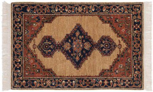 3×4 Hamadan Beige Oriental Rug 020818