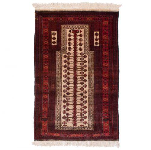 3×4 Afghan Ivory Oriental Rug 030353