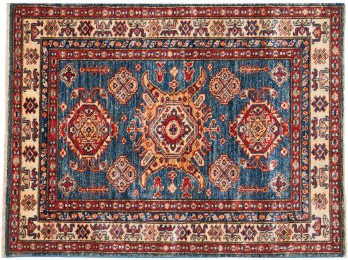 3×4 Kazak Blue Oriental Rug 048789