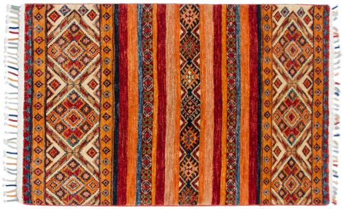 3×4 Kazak Multi Color Oriental Rug 048452